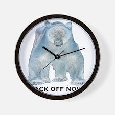 Big Back Off Now 2 Wall Clock