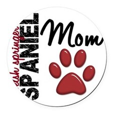D Welsh Springer Spaniel Mom 2 Round Car Magnet