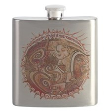 red ganesh in white Flask