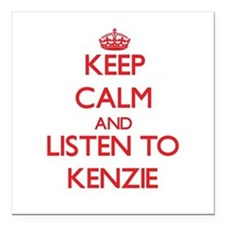 Keep Calm and listen to Kenzie Square Car Magnet 3