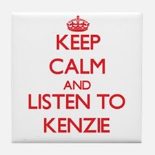 Keep Calm and listen to Kenzie Tile Coaster
