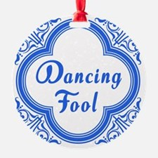 Dancing Fool in Blue and White Ornament