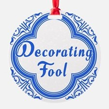 Decorating Fool in Blue and White Ornament