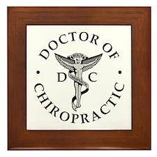 Chiropractor Logo Framed Tile