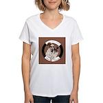 Agility English Cocker Women's V-Neck T-Shirt