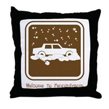 Welcome to Pennsylvania!!! Throw Pillow