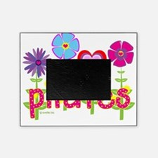 pilates garden hot pink copy Picture Frame