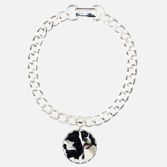 Bor Collie blanket Charm Bracelet, One Charm