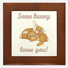Some Bunny Loves You Framed Tile