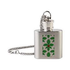 FleurHollyLfPtr441iph Flask Necklace