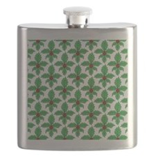 FleurHollyLeafSq Flask