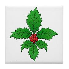 FleurHollyLeafTRs Tile Coaster