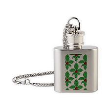 FleurHollyLfPtr5x8jr Flask Necklace