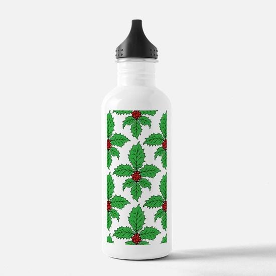 FleurHollyLfPtr5x8jr Water Bottle