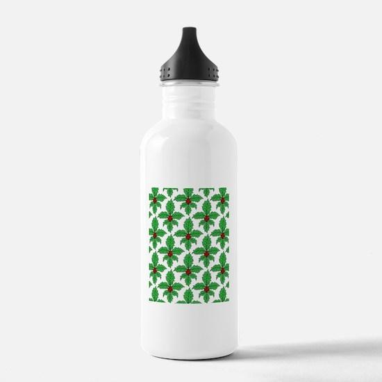 FleurHollyLfPtrFlipf Water Bottle