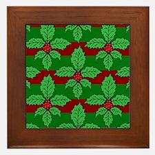 FleurHollyLfPstMP Framed Tile