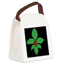 FleurHollyLfBcap Canvas Lunch Bag
