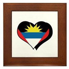 I Love Antiqua Barbuda Framed Tile