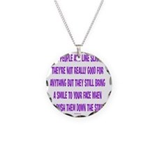 SlinkyPeople Necklace Circle Charm