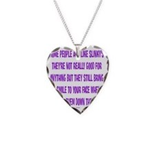 SlinkyPeople Necklace Heart Charm