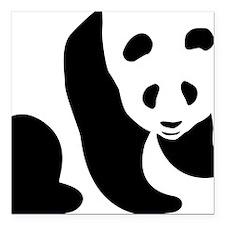 "panda Square Car Magnet 3"" x 3"""