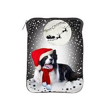 Border Collie Christmas Wishes iPad Sleeve