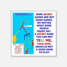 """Not  a good game-TY.MOM Square Sticker 3"""" x 3"""""""