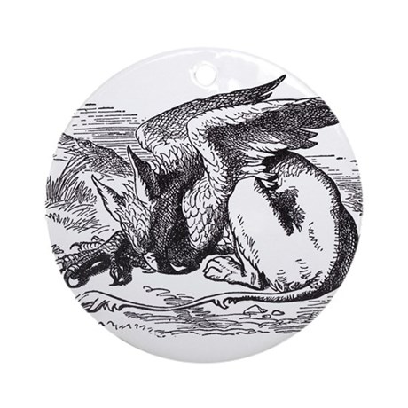 Sleeping Gryphon Ornament (Round)