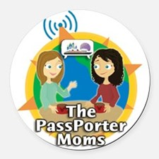 passporter-moms-logo-big Round Car Magnet