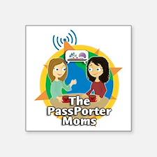"passporter-moms-logo-big Square Sticker 3"" x 3"""