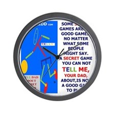 Not  a good game-TY.DAD Wall Clock