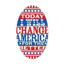 change_america_journal Oval Car Magnet