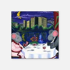 "Mice Be my Valentine Square Sticker 3"" x 3"""
