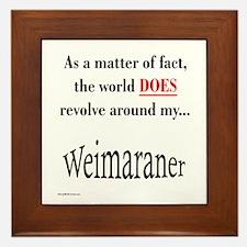 Weimaraner World Framed Tile