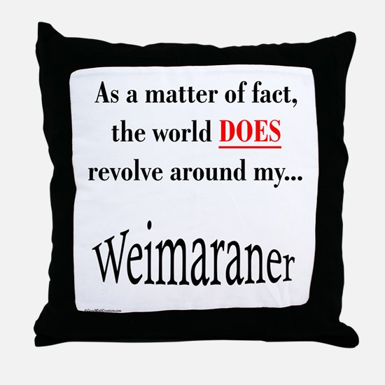 Weimaraner World Throw Pillow