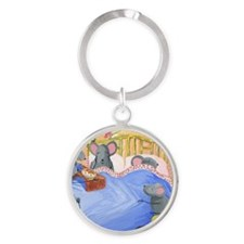 Mice Mothers Day Round Keychain