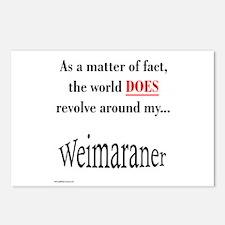 Weimaraner World Postcards (Package of 8)