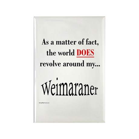 Weimaraner World Rectangle Magnet