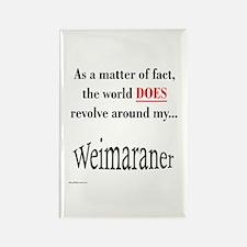Weimaraner World Rectangle Magnet