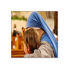 """nun and child Square Sticker 3"""" x 3"""""""
