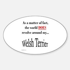 Welsh Terrier World Oval Decal