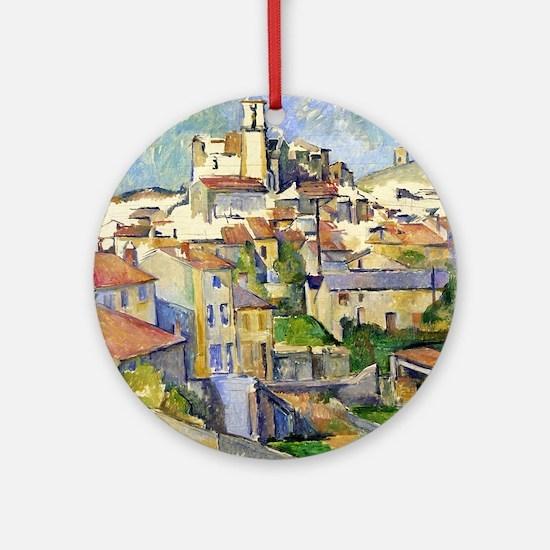 Garddanne - Paul Cezanne - c1885 Round Ornament