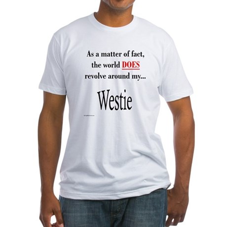 Westie World Fitted T-Shirt