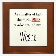 Westie World Framed Tile