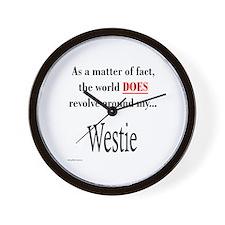 Westie World Wall Clock