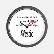 Westie World Wall Clock