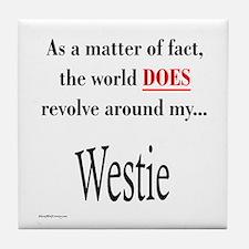 Westie World Tile Coaster