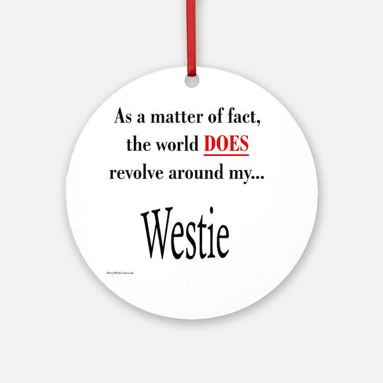 Westie World Ornament (Round)