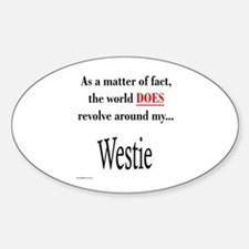 Westie World Oval Decal