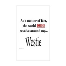Westie World Rectangle Decal